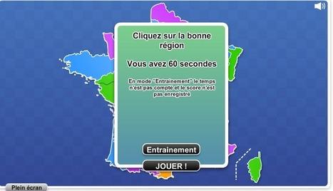 Jeu : régions de France   Français   Scoop.it