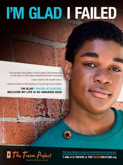 The Trevor Project: I'm Glad I Failed at Suicide - Osocio, The best of non-profit advertising and marketing for social causes | Homophobie | Scoop.it