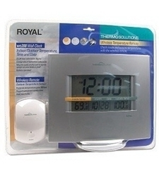 Royal Wc200 Wall Clock Wireless Indoor/outdoor Thermometer | Time & Attendence System | Scoop.it