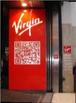 """Virgin Megastore fait """"flasher"""" ses clients pour la marque avec deux QR codes géants   QR-Code and its applications   Scoop.it"""