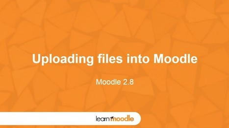 Moodle 2.8 Uploading Files - Moodle Tuts | Moodle and Web 2.0 | Scoop.it