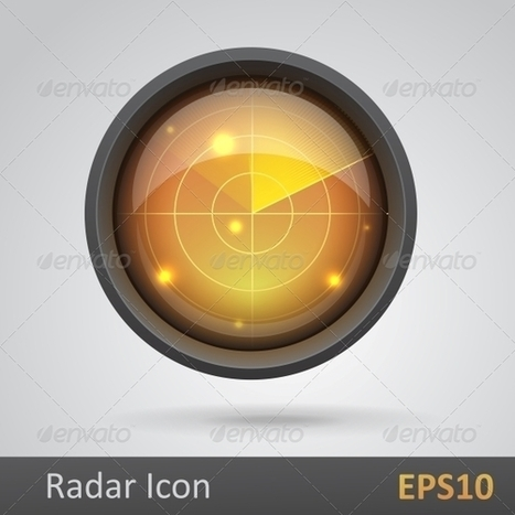 Realistic radar icon vector illustration (Vector) | GFX Database | Graphics Share | Scoop.it