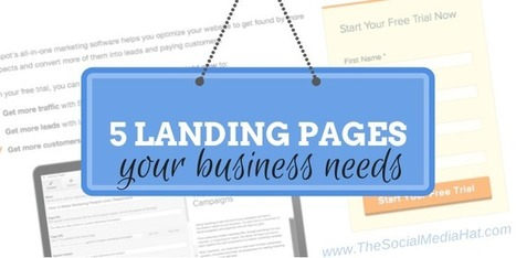 The 5 Other Landing Pages your Business Needs | The Content Marketing Hat | Scoop.it