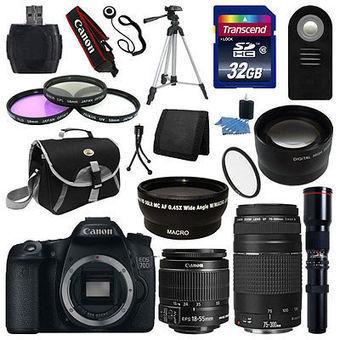 Canon EOS 70D SLR Camera + 5 Lens Kit 18-55 STM +75-300mm 500mm 32GB Full Kit on eBay Daily Deals   Through the Lens   Scoop.it