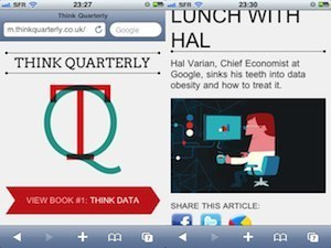 """Think Quarterly, le magazine (mode """"curation"""") made in Google 