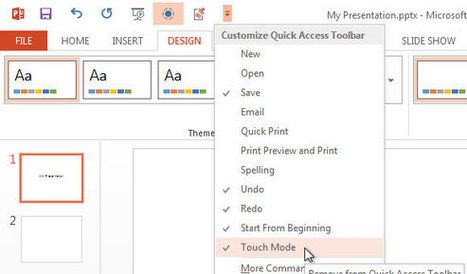 Touch Mode in PowerPoint 2013   PowerPoint Presentation   Presentation Tools   Scoop.it