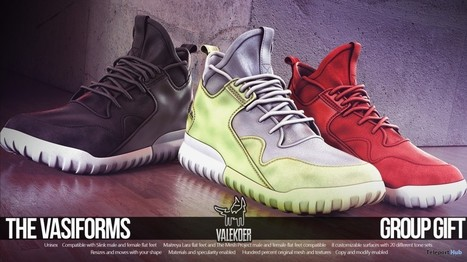 The Vasiforms Unisex Shoes Group Gift by VALE KOER | Teleport Hub - Second Life Freebies | Second Life Freebies | Scoop.it
