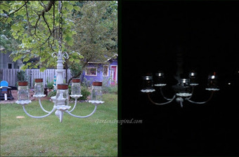 Create a solar chandelier for your garden | Upcycled Garden Style | Scoop.it