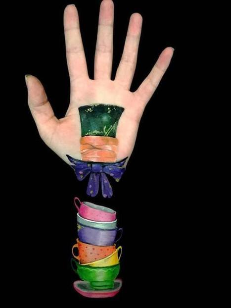 Artist creates incredible optical illusions using her own arm | The brain and illusions | Scoop.it