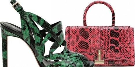 Borse e scarpe iper-colorate in anaconda per Santoni   Moda Donna - sfilate.it   Scoop.it
