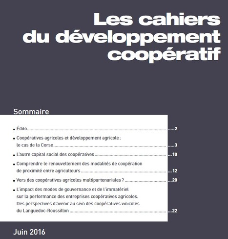 Les cahiers du développement coopératif #1 | Revue de presse FNCUMA | Scoop.it