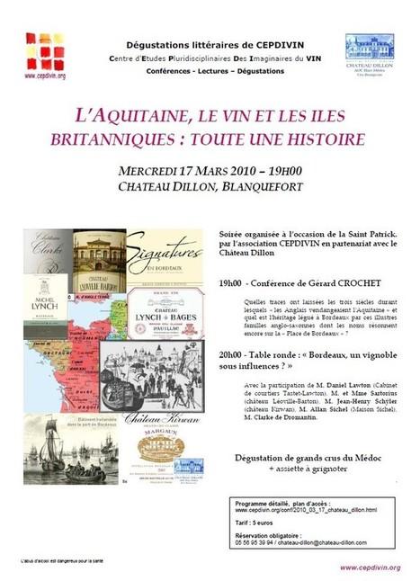 Conférence thématique : L'Aquitaine, le vin et les îles Britanniques : toute une histoire   CEPDIVIN - Les Imaginaires du Vin   Scoop.it
