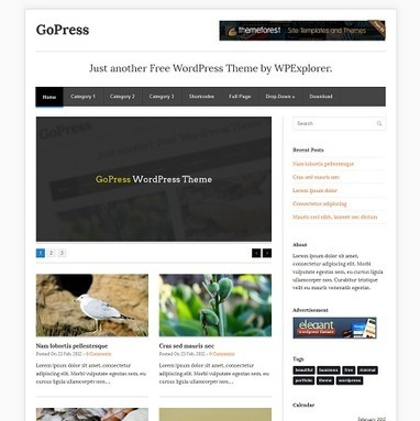 30 Free Magazine Style Themes for Wordpress | Template & Webdesign | Scoop.it