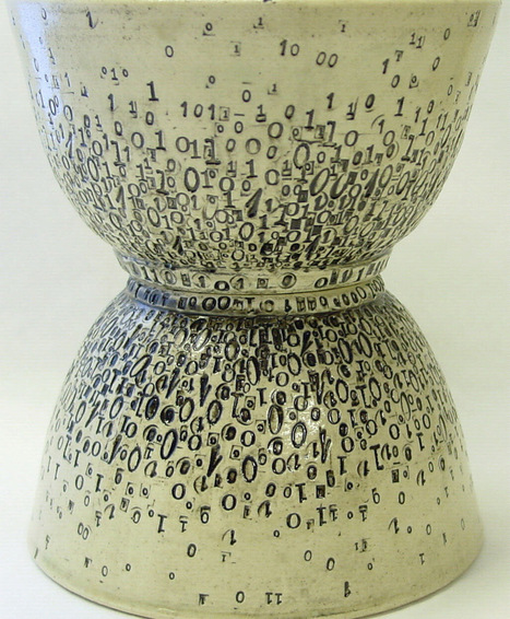 Ceramics Imprinted with Patterns of Vintage Typewriter Letters by Laura C. Hewitt | CLOVER ENTERPRISES ''THE ENTERTAINMENT OF CHOICE'' | Scoop.it