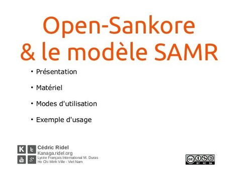 Open Sankore et le modèle SAMR | TICE, Web 2.0, logiciels libres | Scoop.it