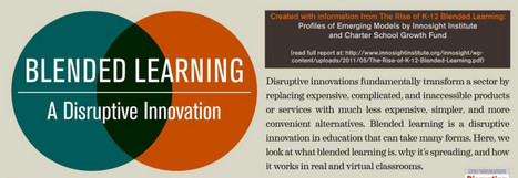 Blended Learning: A Disruptive Innovation [INFOGRAPHIC] | eLearning and Blended Learning in Higher Education | Scoop.it