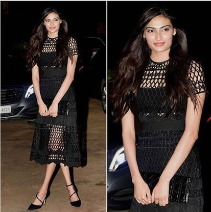 Athiya Shetty in Black Sheer Skirt by Mr. Self Portrait | Indian Fashion Updates | Scoop.it