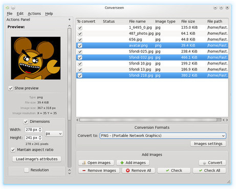 Convertire Immagini con un Solo Clic: Converseen | EditareImmagini | Scoop.it