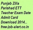Punjab Zilla Parishad ETT Teacher Admit Card Download 2014 www.pbrdp.gov.in Hall ticket syllabus model papers | FREEJOBALERT | Scoop.it