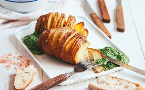 Russet Potatoes With Creamy Spinach and Ramp Sauce [Vegan]   Vegan Food   Scoop.it