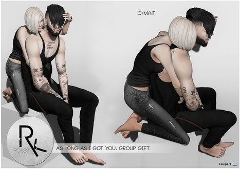 As Long As I Got You Couple Pose Group Gift by RK Poses | Teleport Hub - Second Life Freebies | Second Life Freebies | Scoop.it