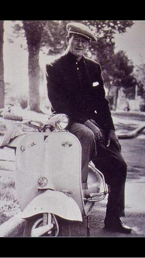 John Wayne on a Vespa! | Vespa Stories | Scoop.it