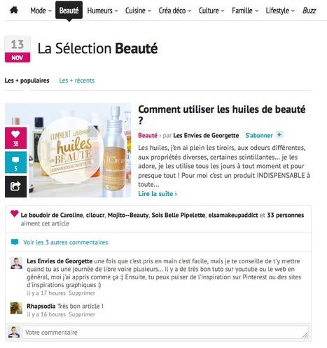 La une Beauté sur hellocoton • mercredi 13 novembre 2013 | Revue de Presse Les Envies de Georgette | Scoop.it