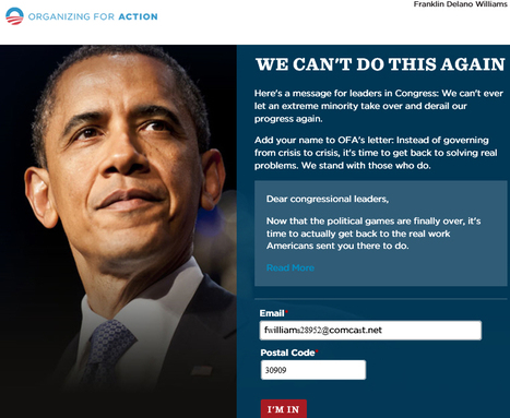 "OFA: ""Will you sign your name to this Letter To Congressional Leaders?"" 