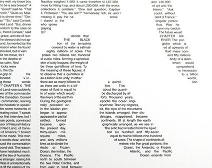 Postertext: Turn Your Favorite Book Into Art Poster | ASCII Art | Scoop.it