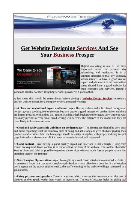 Offering Website design services   Web Design.net   Scoop.it