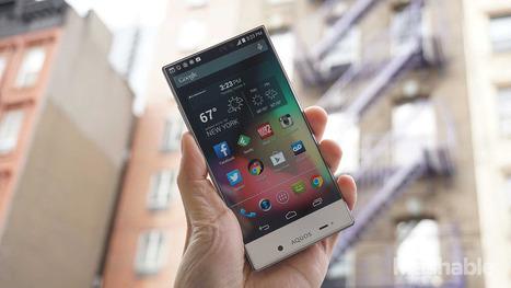 Sharp Aquos Crystal: The future of smartphones looks like this - Mashable   NewTechnoGadget   Scoop.it