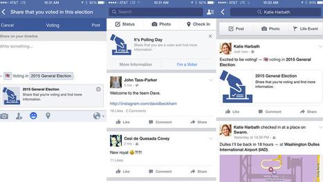 Facebook button lets users tell friends they voted in UK election | Médias sociaux et tourisme | Scoop.it