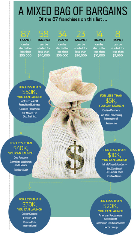 Franchises You Can Start for Less Than $50,000 (Infographic) | Small business updates | Scoop.it