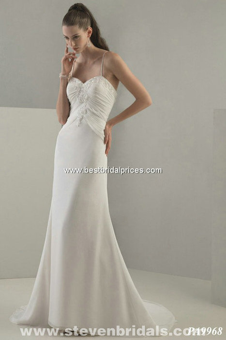 Only Price - $331.00 bridal gown - Style Pallas Athena PA9968 zipper Chiffon chapel train Beading sweetheart neckline For sale | Maggie-Sottero 2013 | Scoop.it