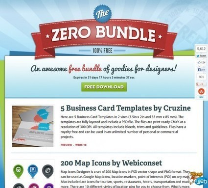 ZeroBundle: Un pack de ressources graphiques gratuites à télécharger | Au fil du Web | Scoop.it