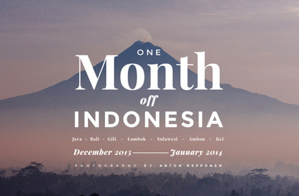 'One Month Off - INDONESIA' by Anton Repponen | Picto Communication Partner | Scoop.it