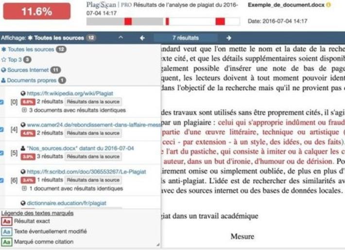 PlagScan. L'arme fatale contre les plagiats – Les Outils Tice | TIC et TICE mais... en français | Scoop.it