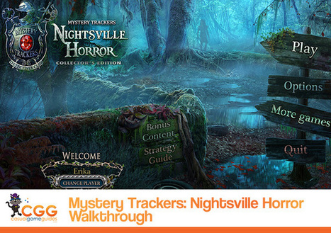 Mystery Trackers: Nightsville Horror Walkthrough: From CasualGameGuides.com | Casual Game Walkthroughs | Scoop.it