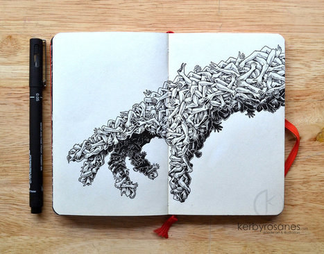 Explosive Moleskine Doodles by Kerby Rosanes | Culture and Fun - Art | Scoop.it