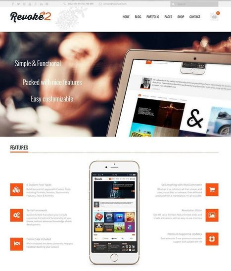 10+ Best Business WordPress Themes of 2015   Professional WordPress Themes Designs   Scoop.it