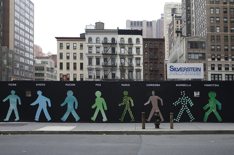 Walking Men, A Public Art Installation Featuring Different Walk Signals From Around the World | Interactive Installation | Scoop.it