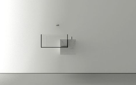 Minimalist Bathroom Sink With an Almost Surreal Appearance: Kub Basin | Modern Home: Green, Clean, and Beautiful | Scoop.it