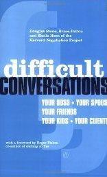 Difficult conversations : how to discuss what matters most | Nouveautés | Scoop.it