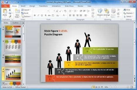 Animated Puzzle Pieces PowerPoint Template With Stick Figures | PowerPoint Presentation | Marketing | Scoop.it