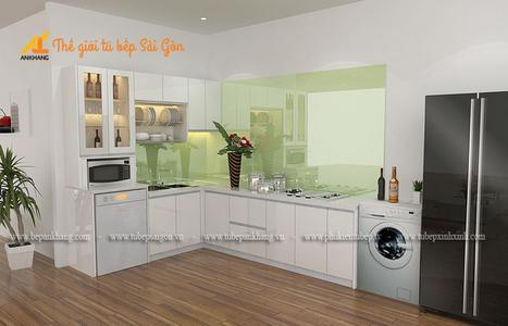 Tủ bếp đẹp nhà chú Toàn quận 7 - TBSG004.   bepankhanggiare   Scoop.it