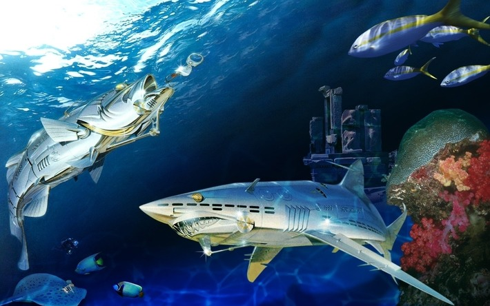 Sorayama Robot Shark Wallpaper | For Art's Sake-1 | Scoop.it