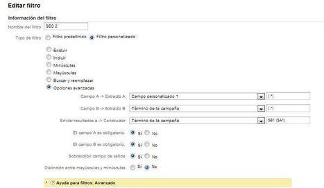 Filtro avanzado de SEO en Google Analytics | Web Analytics Data | Inbound marketing esp | Scoop.it