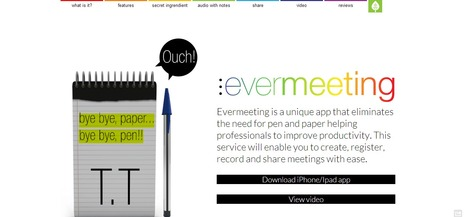 Evermeeting :  create, register, record and share meetings with ease. | Time to Learn | Scoop.it