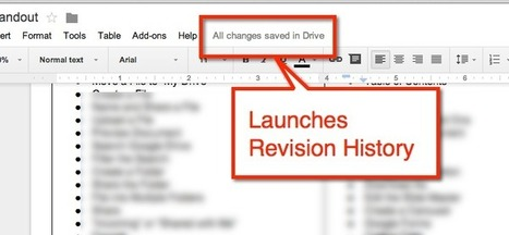 Google Doc Tip: Find Revision History | iGeneration - 21st Century Education | Scoop.it