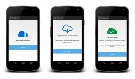 RecoverX, une app pour installer votre recovery favori en trois clics ... - Frandroid | Découvertes web | Scoop.it